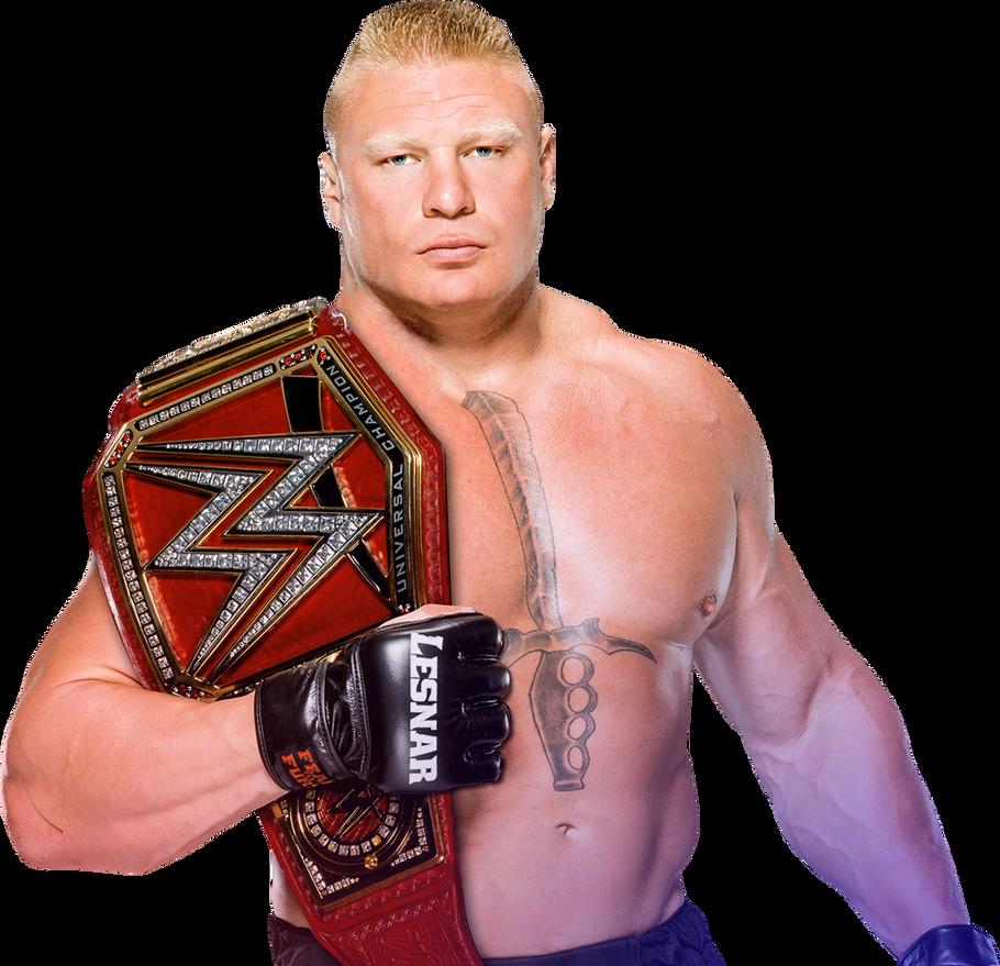 Brock Lesnar WWE Universal Champion 2017 PNG By AmbriegnsAsylum16