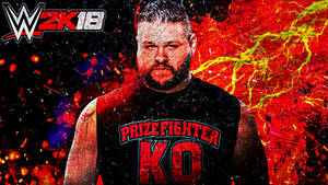 Kevin Owens WWE 2K18 Cover Wallpaper