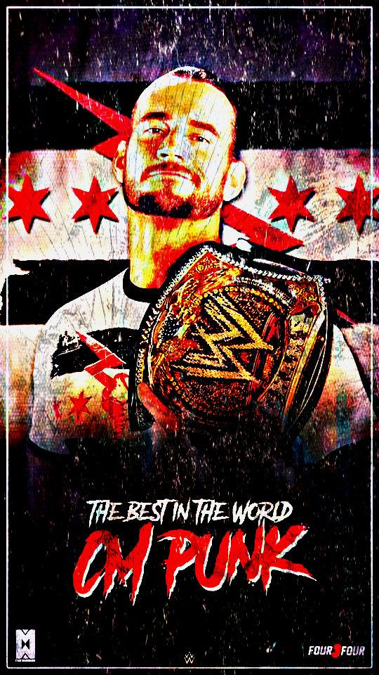 CM Punk WWE Champion Custom Mobile