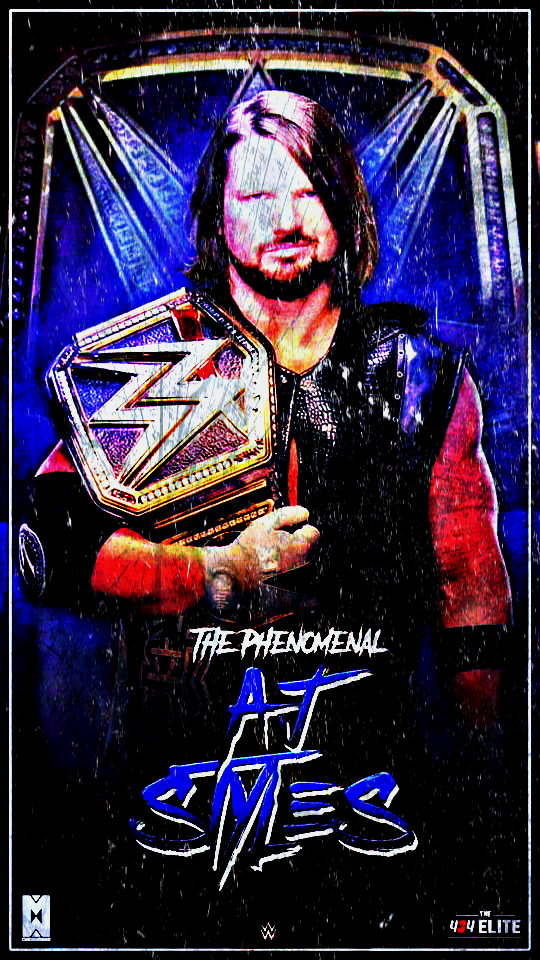 Aj Styles Wwe Champion Custom Mobile Wallpaper By Ambriegnsasylum16