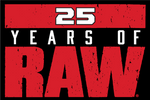 25 Years of WWE RAW Logo PNG