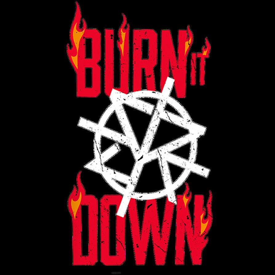 seth rollins burn it down tee logo 2017 png by ambriegnsasylum16
