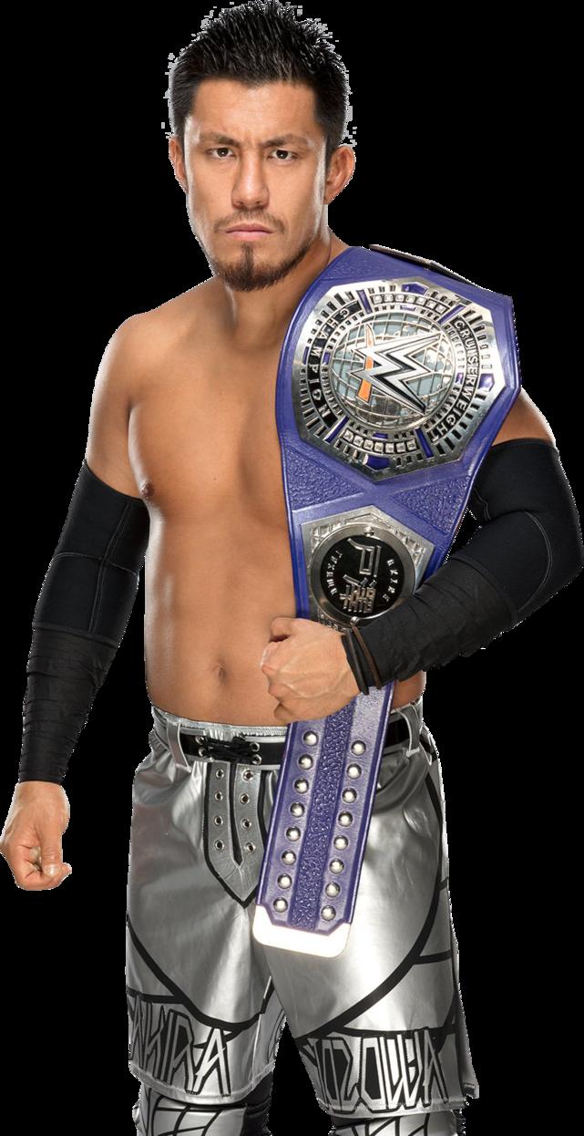 Akira Tozawa Cruiserweight Champion 2017 NEW PNG by AmbriegnsAsylum16 on  DeviantArt