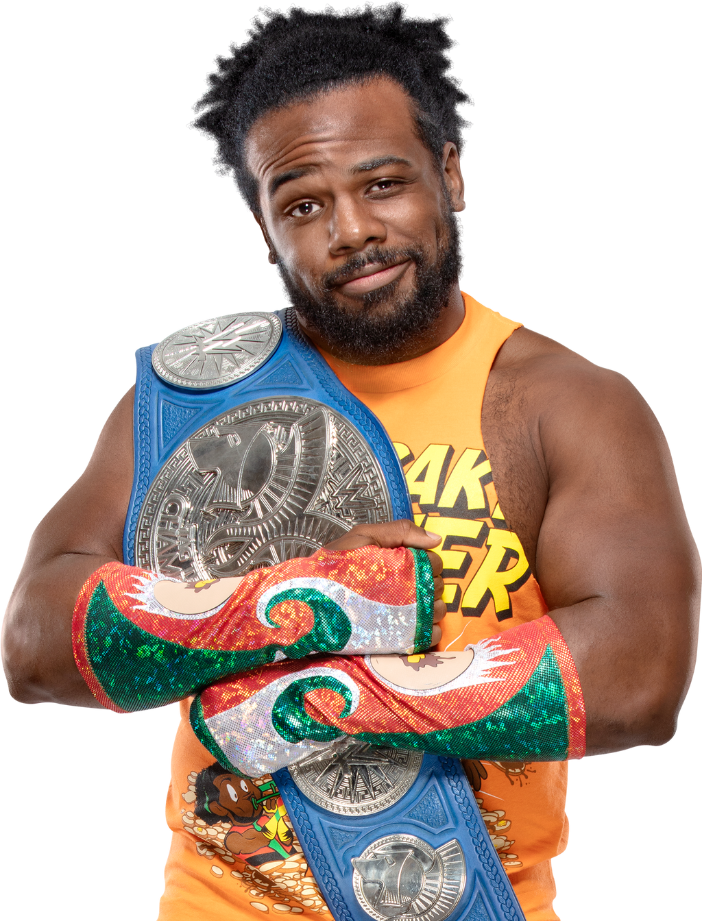 Xavier Woods 2018 SDLIVE Tag-Team Champion PNG by AmbriegnsAsylum16 on  DeviantArt
