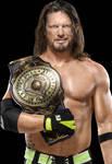 AJ Styles NEW Intercontinental Champ 2020 PNG