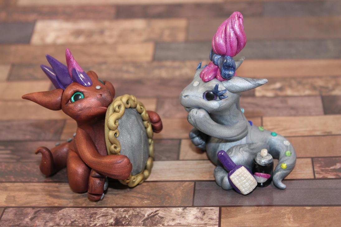 Sculptober - Day 20: Best Friends by LittleFatDragons