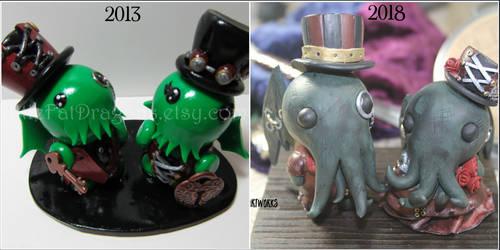 Sculpt this Again - Steampunk Cthulhu Cake Topper by FatDragonArtworks