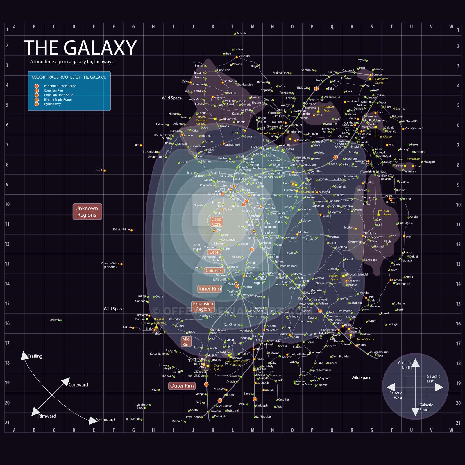 Star Wars -- Galaxy Map by Offeye on DeviantArt