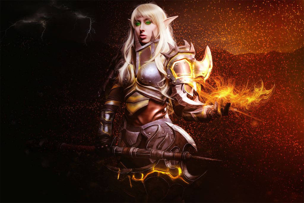 Blood Elf Warrior Wow Rage By Micheleilona On Deviantart