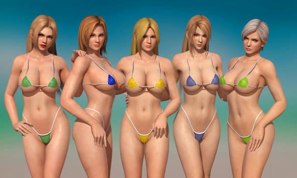 5 Micro Bikini Babes