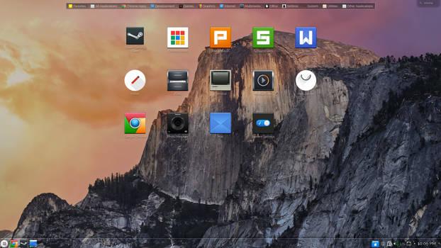 Nitrux Icons on Haze OS: Origami Edition