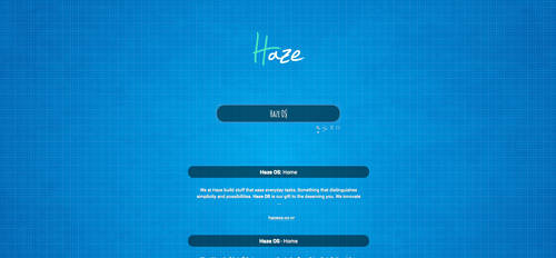 The Haze search engine/ start page experiment