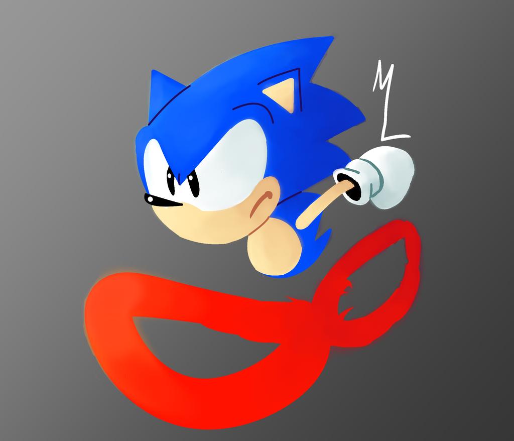 Running Sonic by Darkspike75