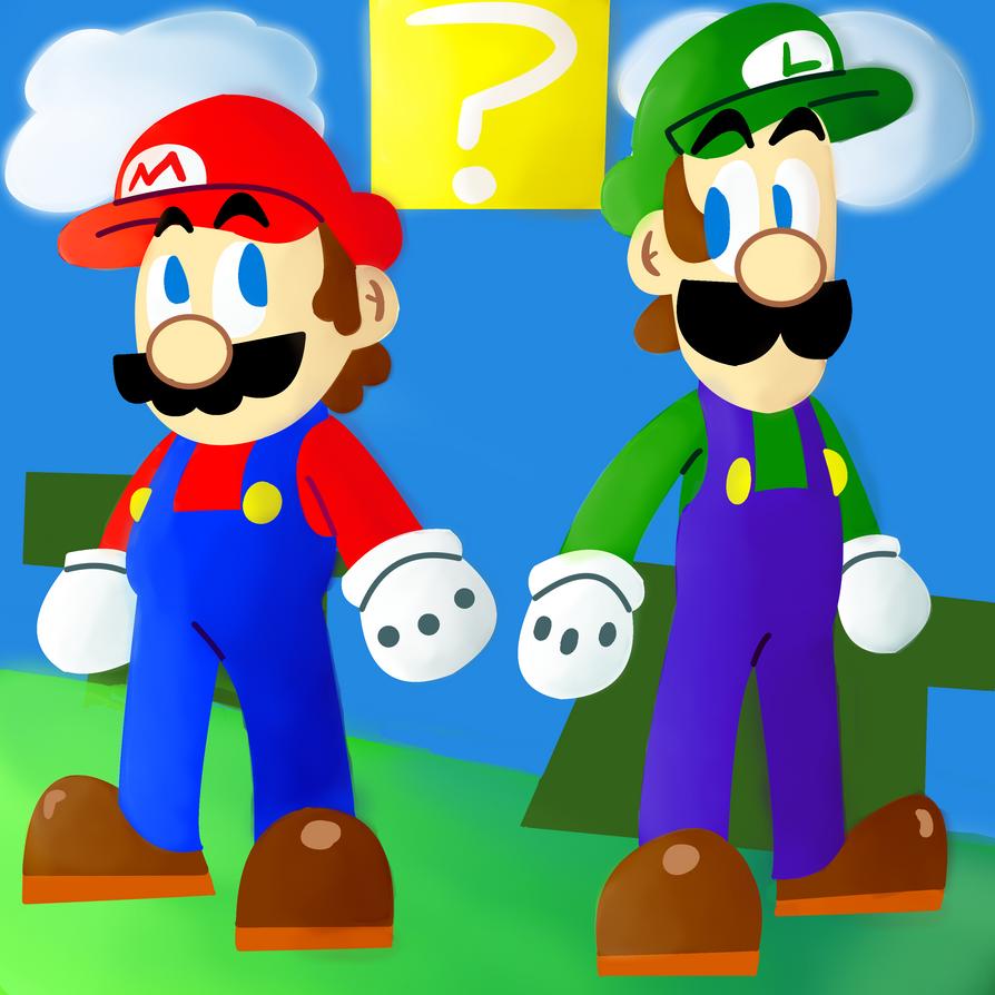 Mario  Luigi by Darkspike75