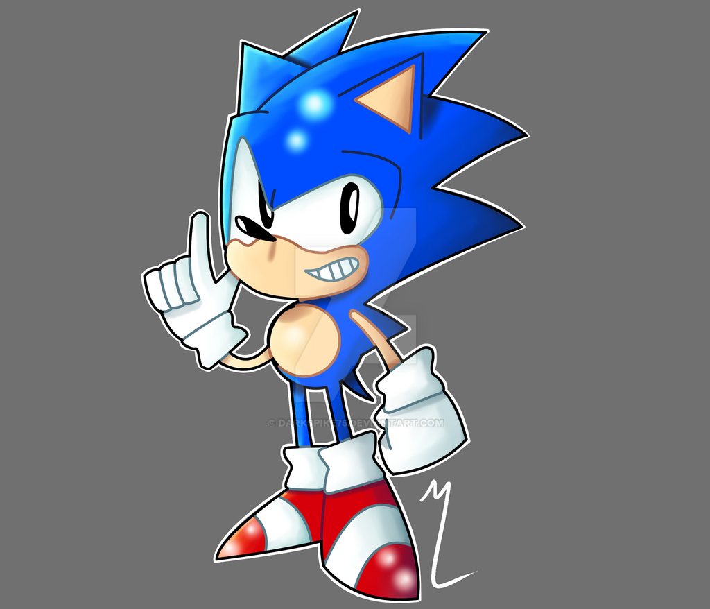 Sonic (The Character I can't Stop Drawing) by Darkspike75