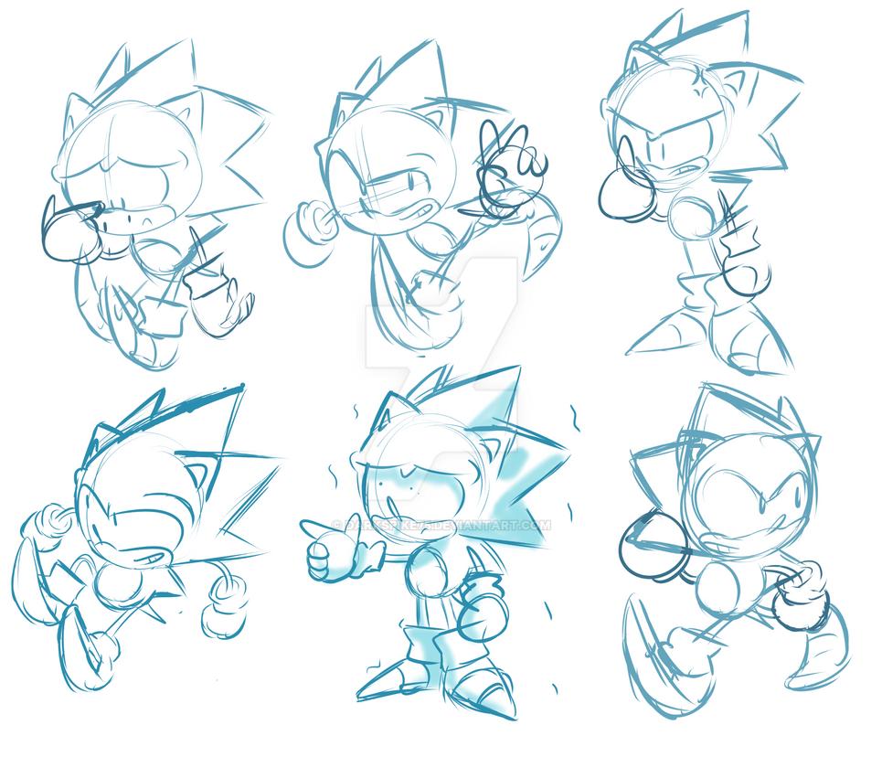 Sonic Sketches by Darkspike75