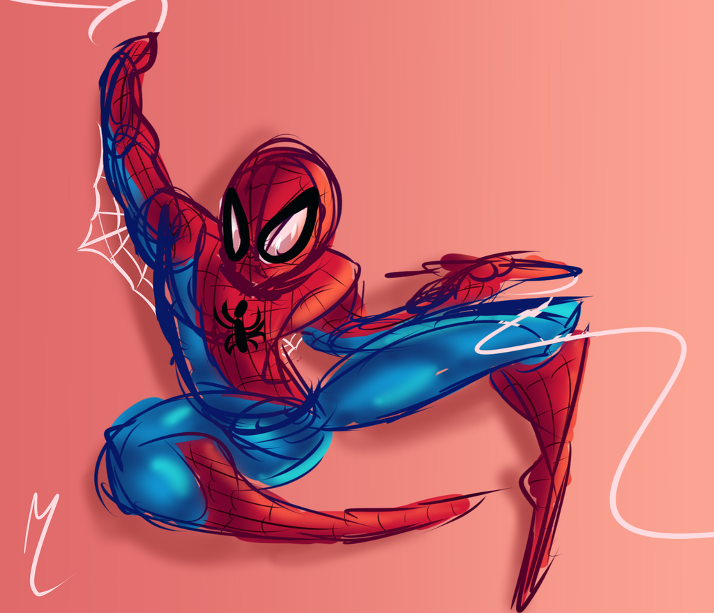 Rough Spidey Sketch by Darkspike75