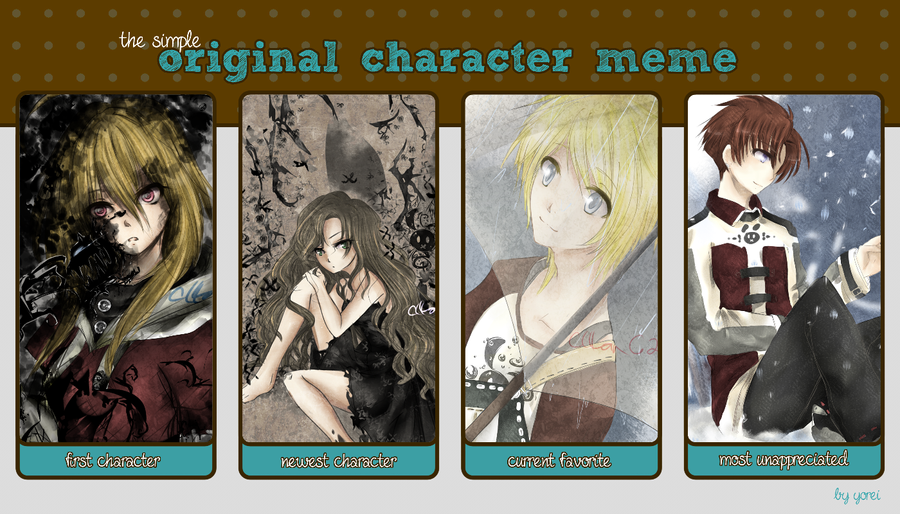 .Original Character meme by cHlanG2x