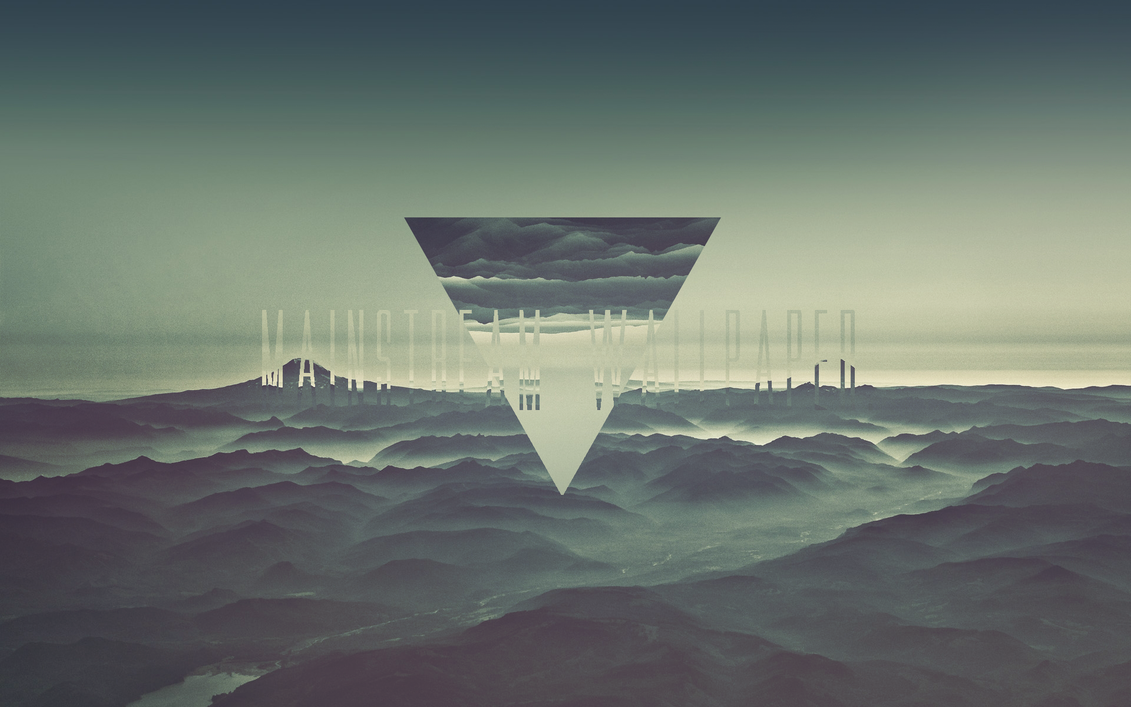 Mainstream Wallpaper - Hipster Triangle HD by MuuseDesignInverted Triangle Wallpaper