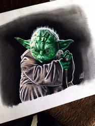 Yoda by clarke-art