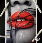 Colour splash lips