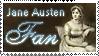 Jane Austen Stamp by Keliane