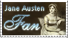 Jane Austen Stamp by Keliane