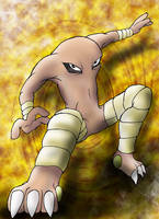 Hitmonlee is gonna get you by Blue-Uncia