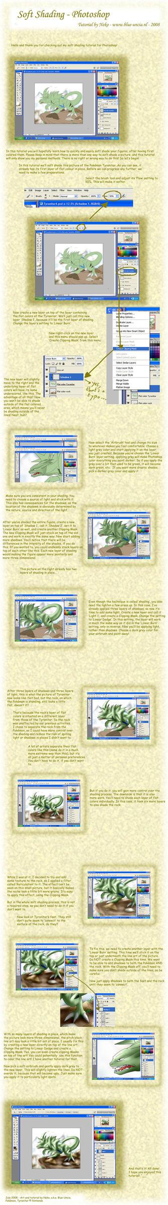 Soft shading tutorial by Blue-Uncia