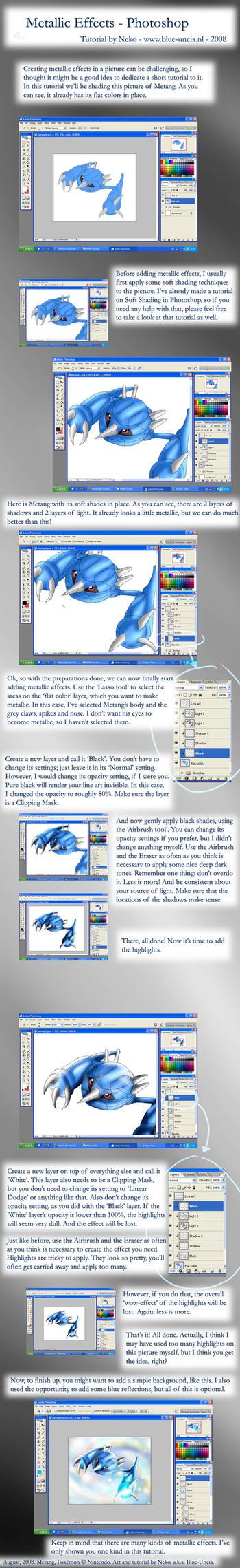 Metallic effects tutorial by Blue-Uncia