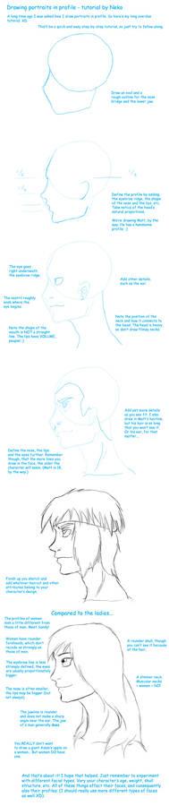 Tutorial portraits in profile