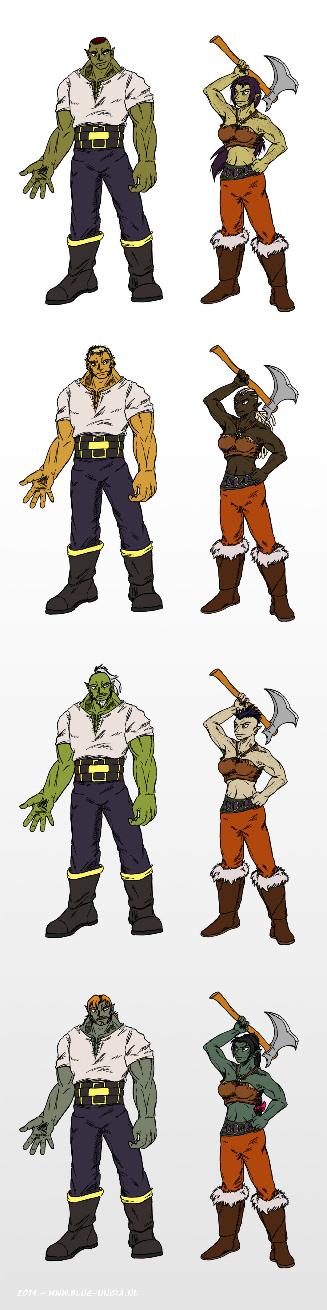 World of Warcraft sub-race suggestion: Half-orc by Blue-Uncia