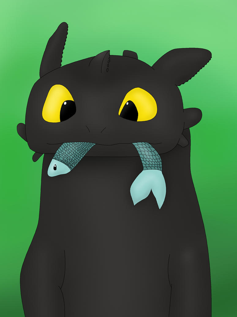 Toothless and fish by felix kot on deviantart for Too cool fishing