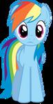 Rainbow Dash in perplexity by Felix-KoT