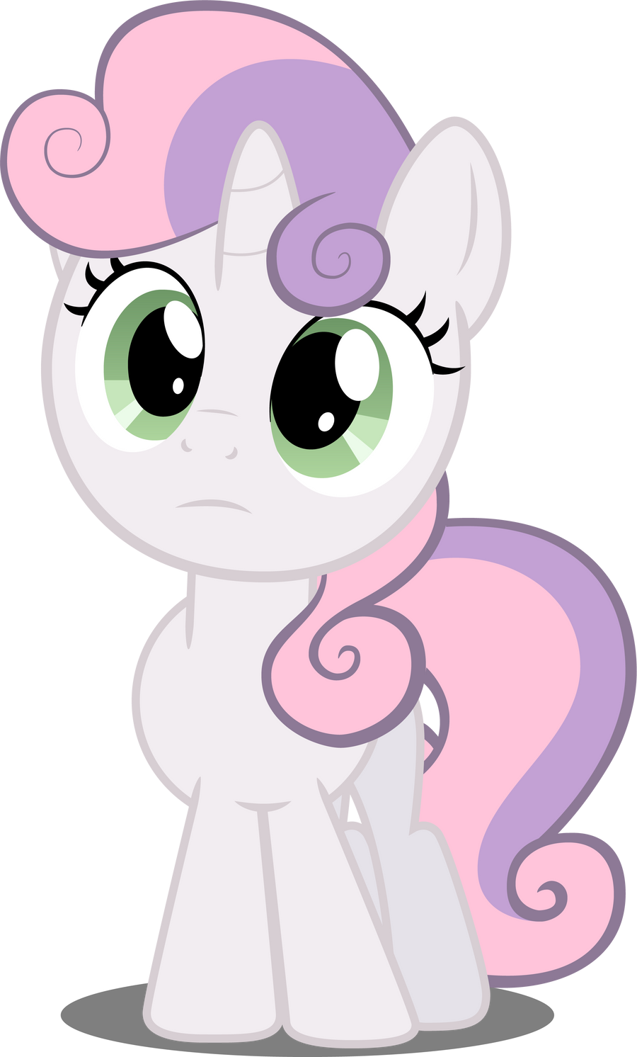 Sweetie Belle in perplexity by Felix-KoT