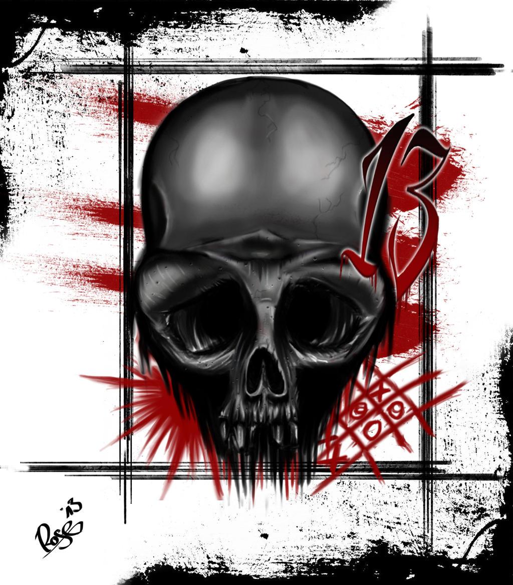 trash polka skull by mcrdesign on deviantart. Black Bedroom Furniture Sets. Home Design Ideas