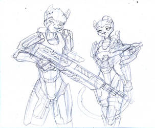 Spartan Furs Commission Rough by pink-kitsune