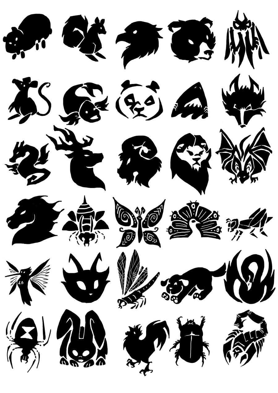 Animal logos by Multifreak99 on DeviantArt