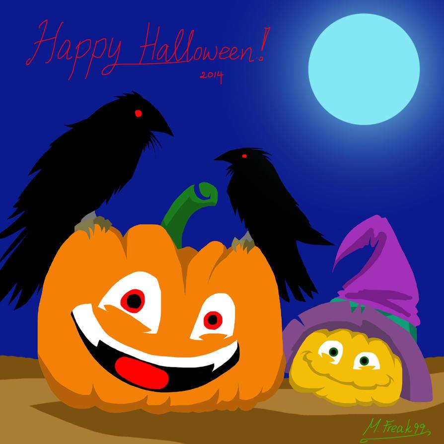 Happy Halloween: The Pumpkins and Ravens by Multifreak99
