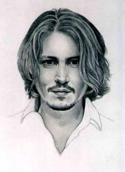 Johnny Depp--face by PamelaKaye