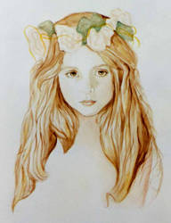 Watercolor Girl by PamelaKaye