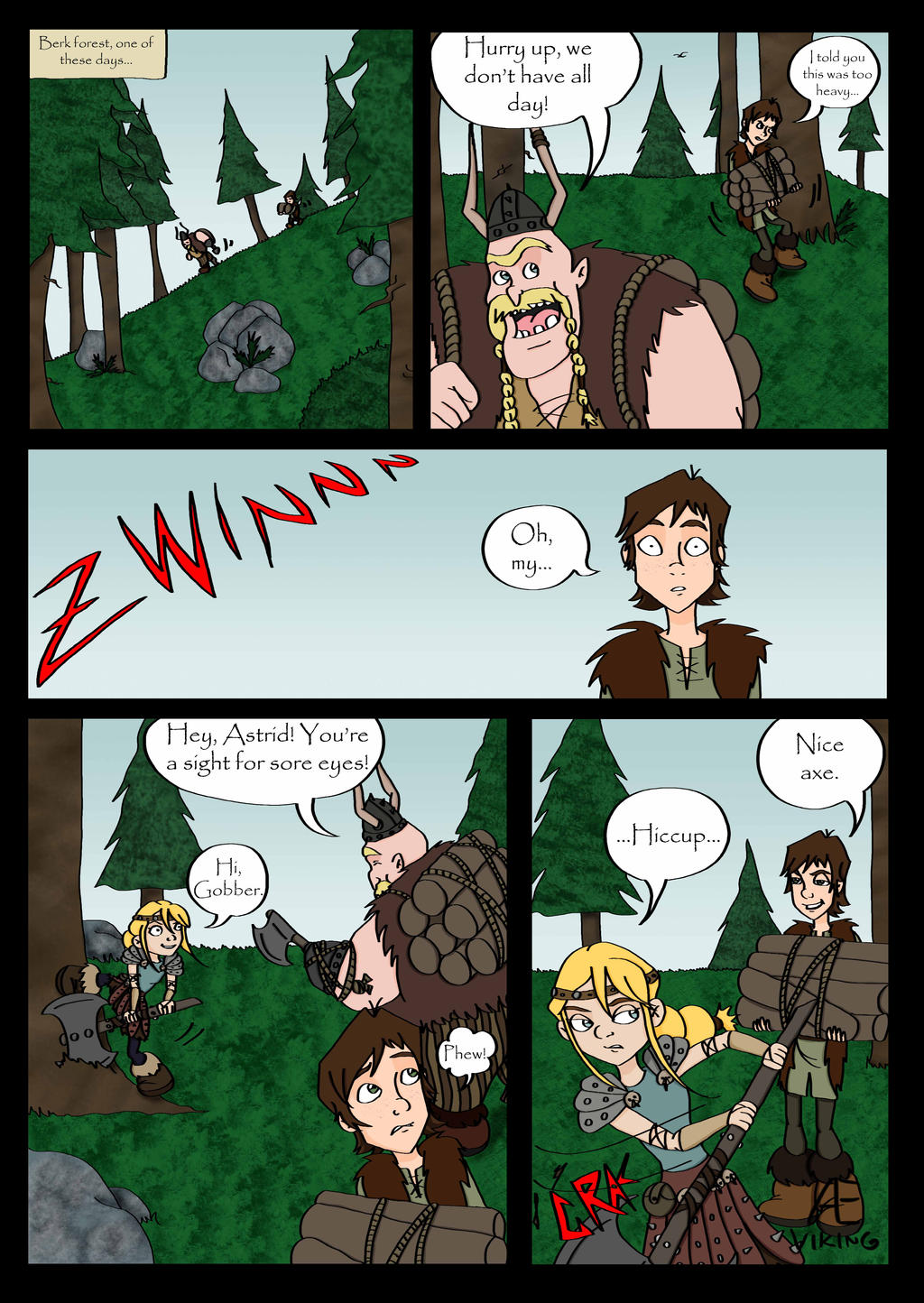 Hiccstrid comic page 1 by Aeviking on DeviantArt
