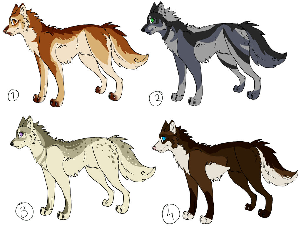 Wolf Adopts Batch 1: 3/4 OPEN by Wind-Lion-Temple