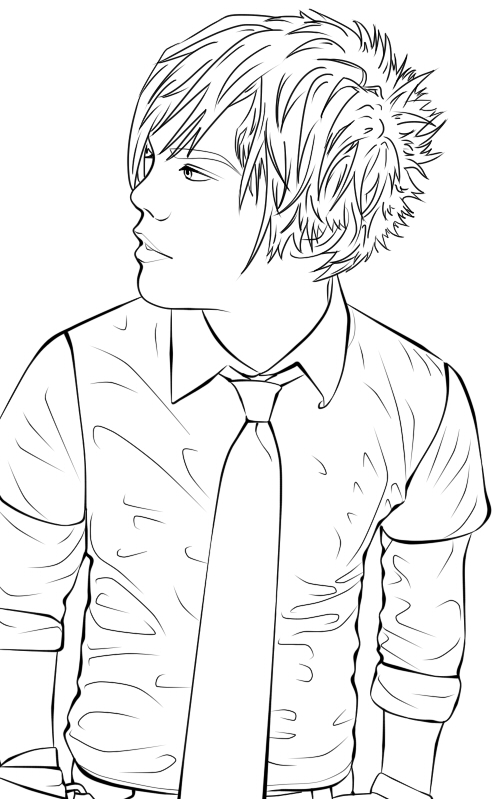 anime guy coloring pages - anime emo guys cartoon hot girls wallpaper