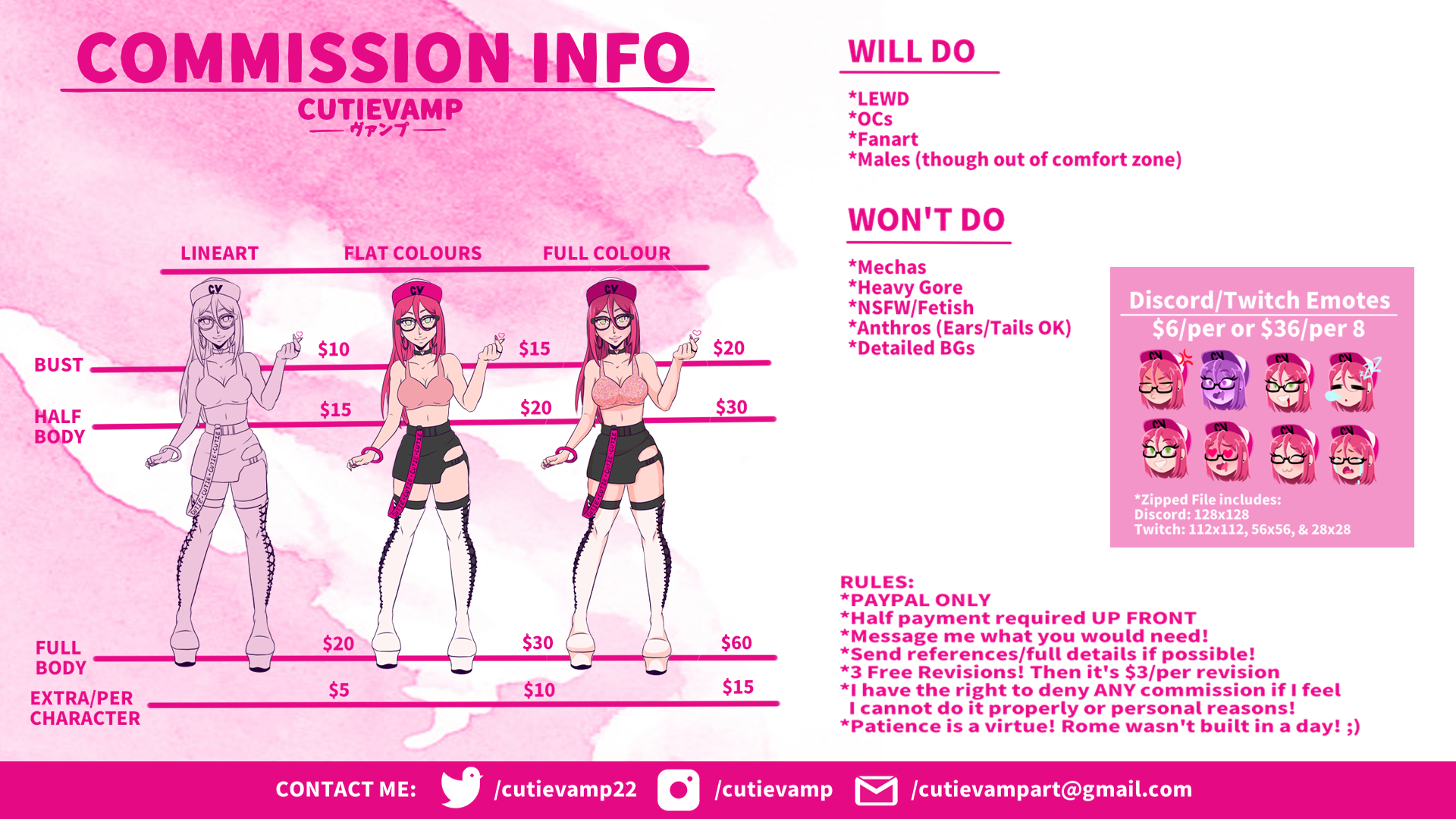 Commission Info Sheet: CLOSED
