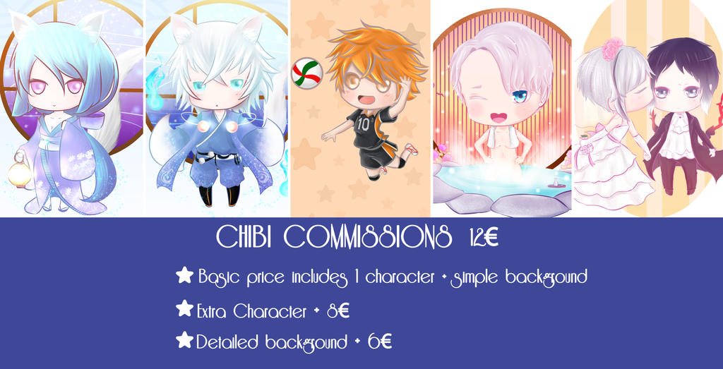 Commissions chibi by Y-llia