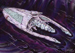 Alien Ship -see through hull by DonMeiklejohn