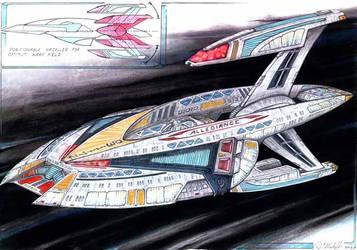 USS Allegiance - sketch by DonMeiklejohn