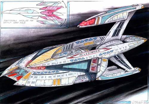 USS Allegiance - sketch