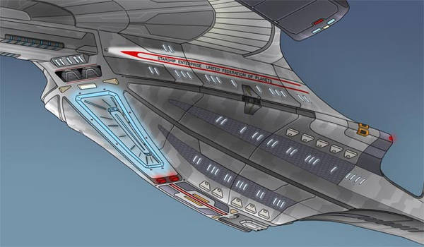 Underside of USS Remorah